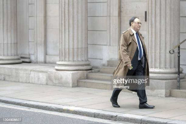 Andrew Bailey, incoming governor of the Bank of England, arrives at the central bank in the City of London, U.K., on Tuesday, March 3, 2020. The man...