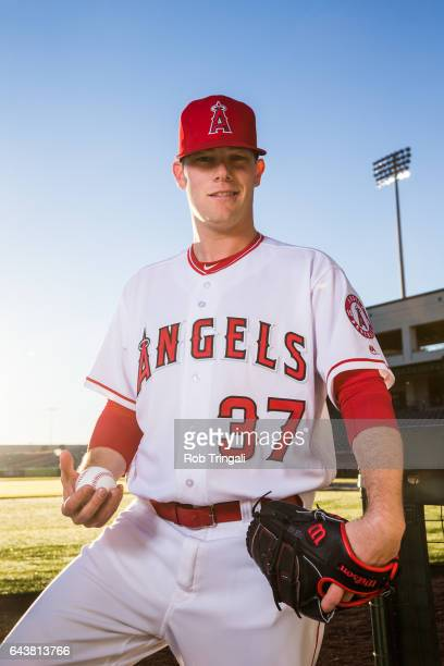 Andrew Bailey of the Los Angeles Angels of Anaheim poses for a portrait at Tempe Diablo Stadium on February 21 2017 in Tempe Arizona
