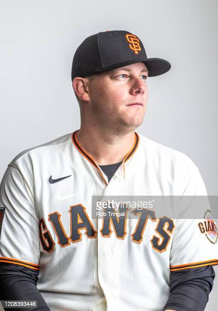 Andrew Bailey Pitching Coach of the San Francisco Giants poses for a portrait at Scottsdale Stadium the spring training complex of the San Francisco...