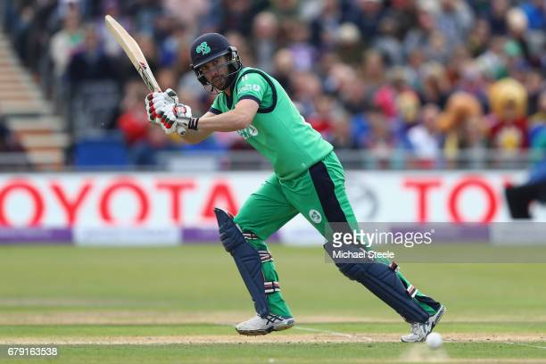 Andrew Balbirnie of Ireland during the Royal London One Day International match between England and Ireland at The Brightside Ground on May 5 2017 in...
