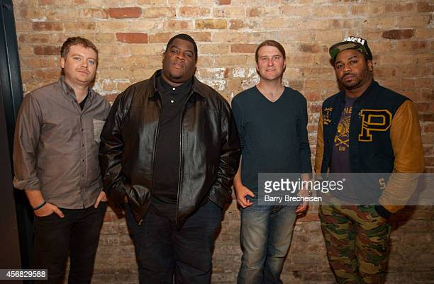Andrew Barber Salaam Remi Matt Hennessy and Just Blaze during the GRAMMY Up Close Personal with Just Blaze Salaam Remi at The Chop Shop on October 7...
