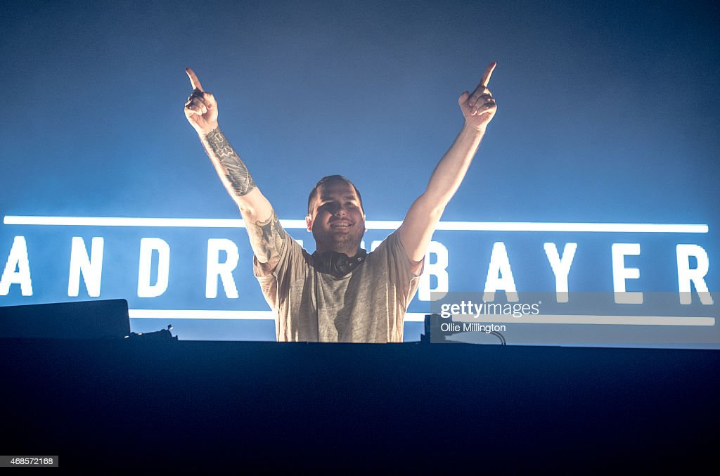 Andrew Bayer performs on stage at Brixton Academy on April 3, 2015 in London, United Kingdom.