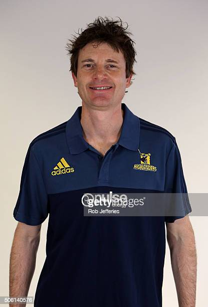 Andrew Beardsmore Strength and Conditioning Coach of the Highlanders poses for a portrait on January 22 2016 in Dunedin New Zealand