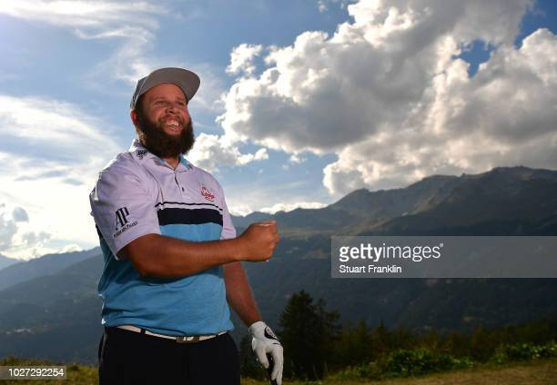 Andrew 'Beef' Johnson of England poses for a picture during the pro am prior to the start of the Omega European Masters at CranssurSierre Golf Club...