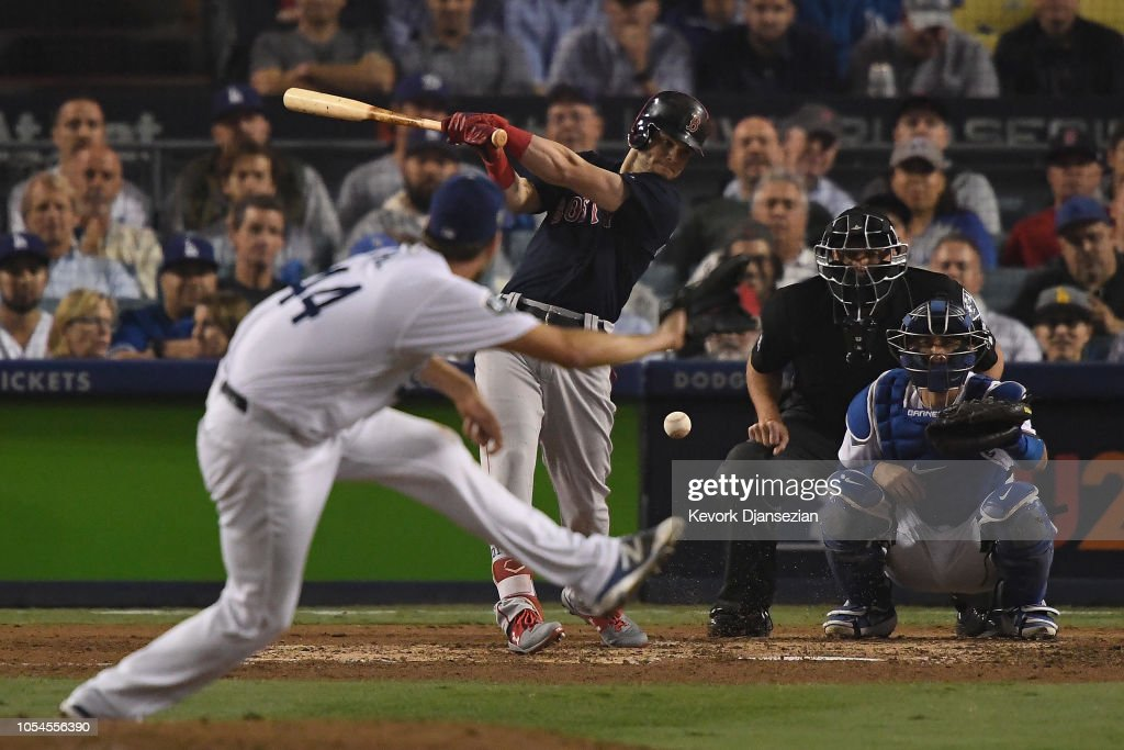 World Series - Boston Red Sox v Los Angeles Dodgers - Game Four : News Photo