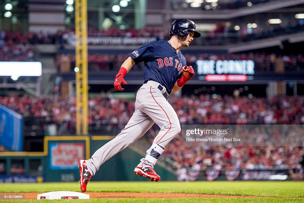 Division Series - Boston Red Sox v Cleveland Indians - Game One : News Photo