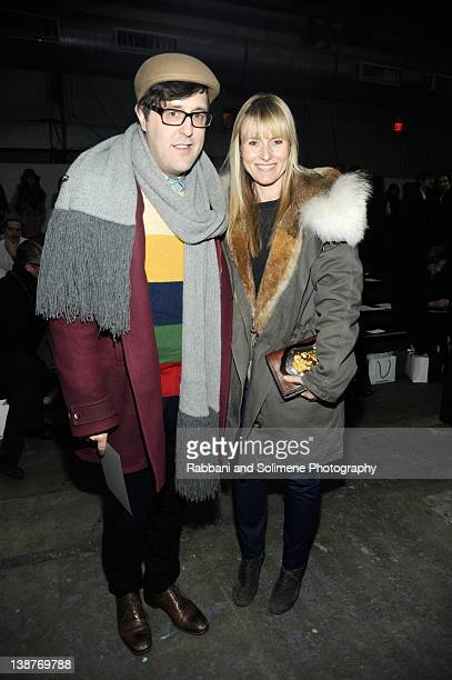 Andrew Bevan and Amy Astley attend the Alexander Wang Fall 2012 fashion show during MercedesBenz Fashion Week at Pier 94 on February 11 2012 in New...