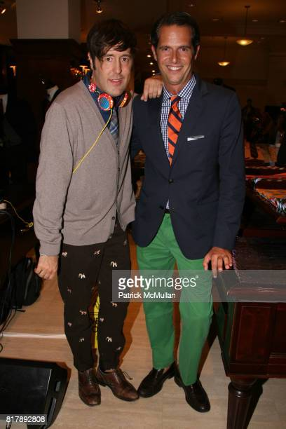 Andrew Bevan and Arthur Wayne attend The launch of True Prep at Brooks Brothers on September 14 2010 in New York
