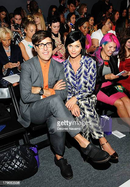 Andrew Bevan and Leigh Lezark attend the Noon By Noor show during Spring 2014 MercedesBenz Fashion Week at The Studio at Lincoln Center on September...