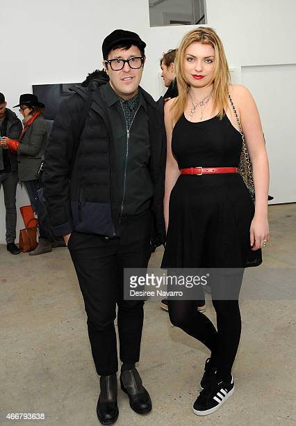 Andrew Bevan and Lola Fruchtmann attend Tali Lennox Exhibition Opening Reception at Catherine Ahnell Gallery on March 18, 2015 in New York City.