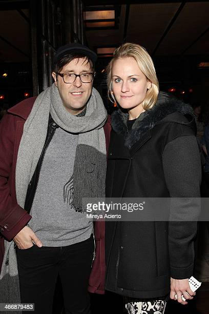 Andrew Bevan and Mary Kate Steinmiller attend the Maison Jules Fall 2014 fashion show at The Park on February 4 2014 in New York City