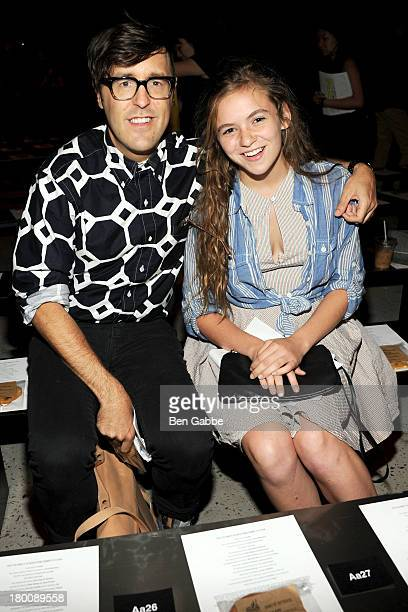 Andrew Bevan and Morgan Saylor attend Band Of Outsiders Women's during MercedesBenz Fashion Week Spring 2014 on September 8 2013 in New York City