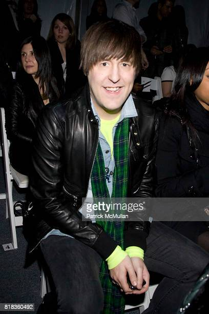 Andrew Bevan attends NICOLE MILLER Fall 2010 Collection at Bryant Park Tents on February 12 2010 in New York City