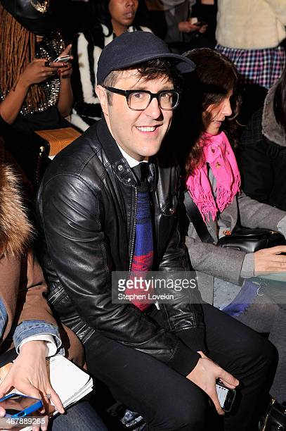 Andrew Bevan attends the Herve Leger By Max Azria fashion show during MercedesBenz Fashion Week Fall 2014 at The Theatre at Lincoln Center on...