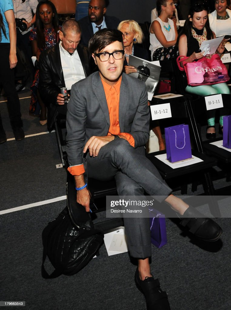 Andrew Bevan attends the Noon By Noor show during Spring 2014 Mercedes-Benz Fashion Week at The Studio at Lincoln Center on September 6, 2013 in New York City.