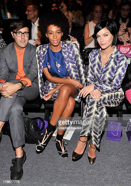 Andrew Bevan Solange Knowles and Leigh Lezark attend the Noon By Noor Spring 2014 fashion show during MercedesBenz Fashion Week at The Studio at...