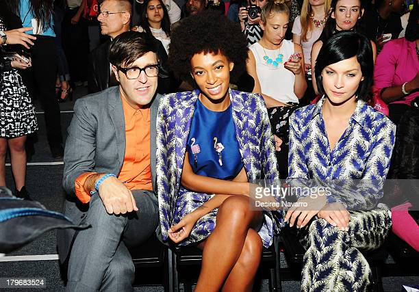 Andrew Bevan Solange Knowles and Leigh Lezark attend the Noon By Noor show during Spring 2014 MercedesBenz Fashion Week at The Studio at Lincoln...