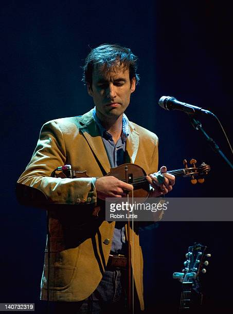 Andrew Bird performs on stage at Barbican Centre on March 5 2012 in London United Kingdom