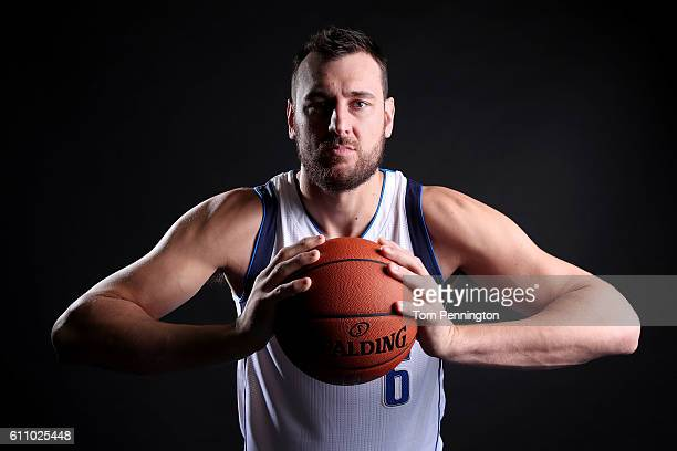 Andrew Bogut of the Dallas Mavericks poses for a portrait during the Dallas Mavericks Media Day held at American Airlines Center on September 26 2016...