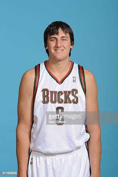 Andrew Bogut of the Milwaukee Bucks poses for a portrait during 2009 NBA Media Day on September 28 2009 at the Cousins Center in St Francis Wisconsin...