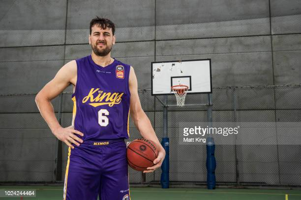 Andrew Bogut of the Sydney Kings poses during the NBL First Ever Apparel Uniform Launch athe the Ultimo Community Centre on August 27 2018 in Sydney...