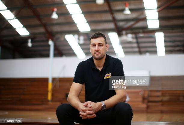 Andrew Bogut poses during a Sydney Kings NBL press conference at Auburn Basketball Centre on March 20 2020 in Sydney Australia