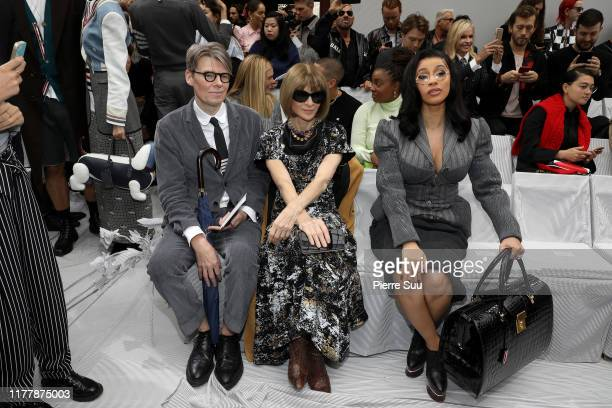 Andrew Bolton Anna Wintour and Cardi B attend the Thom Browne Womenswear Spring/Summer 2020 show as part of Paris Fashion Week on September 29 2019...