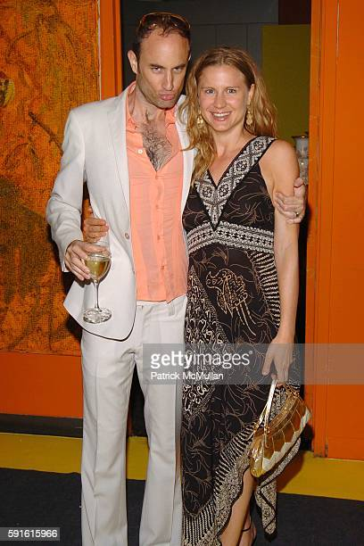 Andrew Boose and Deborah Schoeneman attend Amendorg Founders' Dinner at Hunt Slonem Studio on June 30 2005 in New York City