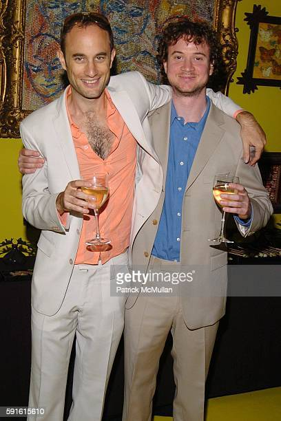 Andrew Boose and Johnny Boose attend Amendorg Founders' Dinner at Hunt Slonem Studio on June 30 2005 in New York City