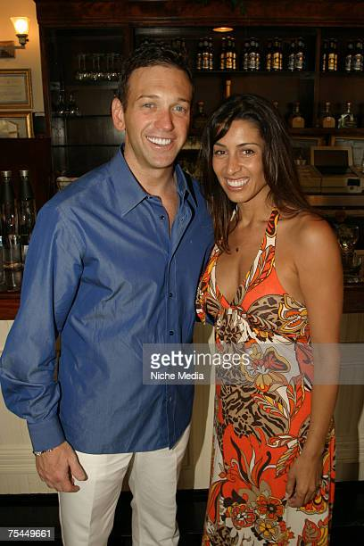 Andrew Borrack and Shamin Abas attend a Hamptons Magazine cocktail reception at Savanna's on July 14 2007 in South Hampton New York