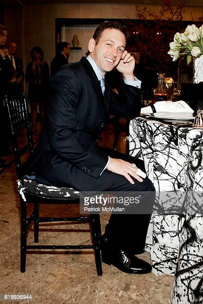 Andrew Borrok attends TIFFANY Celebrates Dining in Style With ALPHA WORKSHOPS at Tiffany Co on October 16 2008 in London NY
