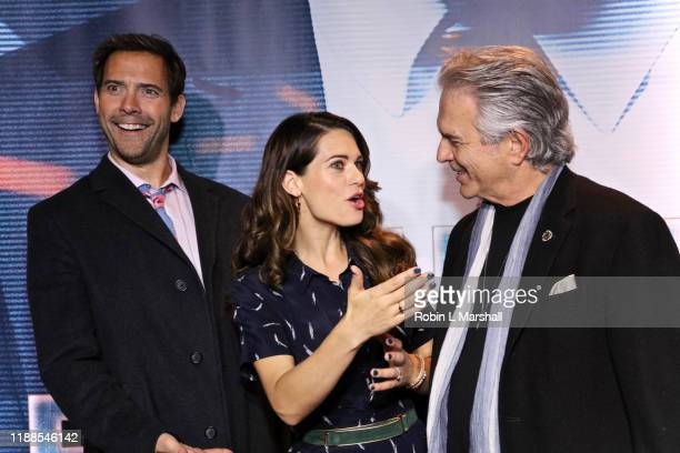 Andrew Bowen Lyndsy Fonseca and Tony Denison attend the Premiere of Agent Emerson at iPic Theater on November 18 2019 in Los Angeles California