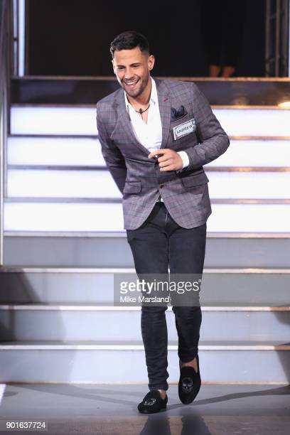 Andrew Brady attends the Celebrity Big Brother male contestants launch night at Elstree Studios on January 5 2018 in Borehamwood England