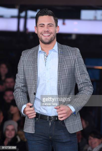 Andrew Brady is evicted from the Celebrity Big Brother house at Elstree Studios on January 26 2018 in Borehamwood England