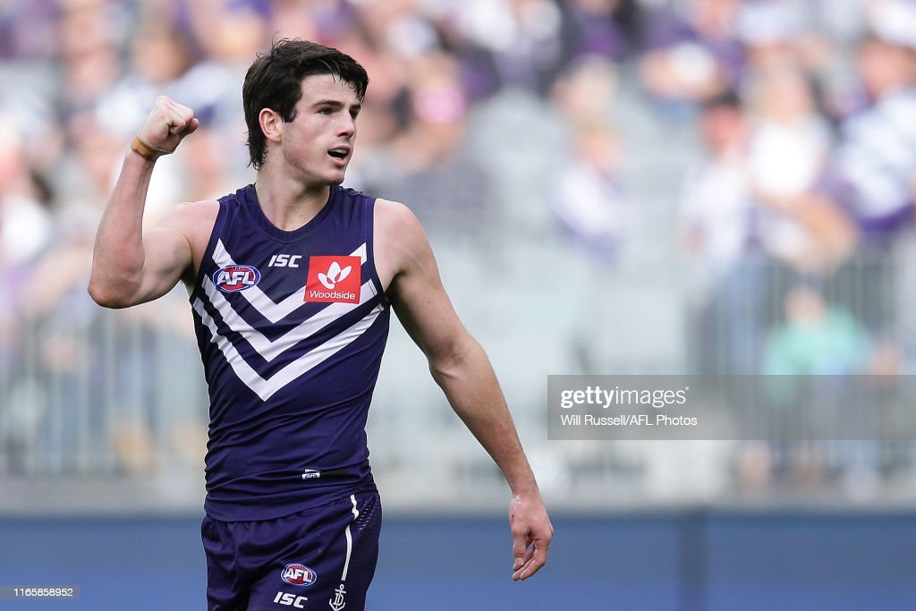 AFL Rd 20 - Fremantle v Geelong : News Photo