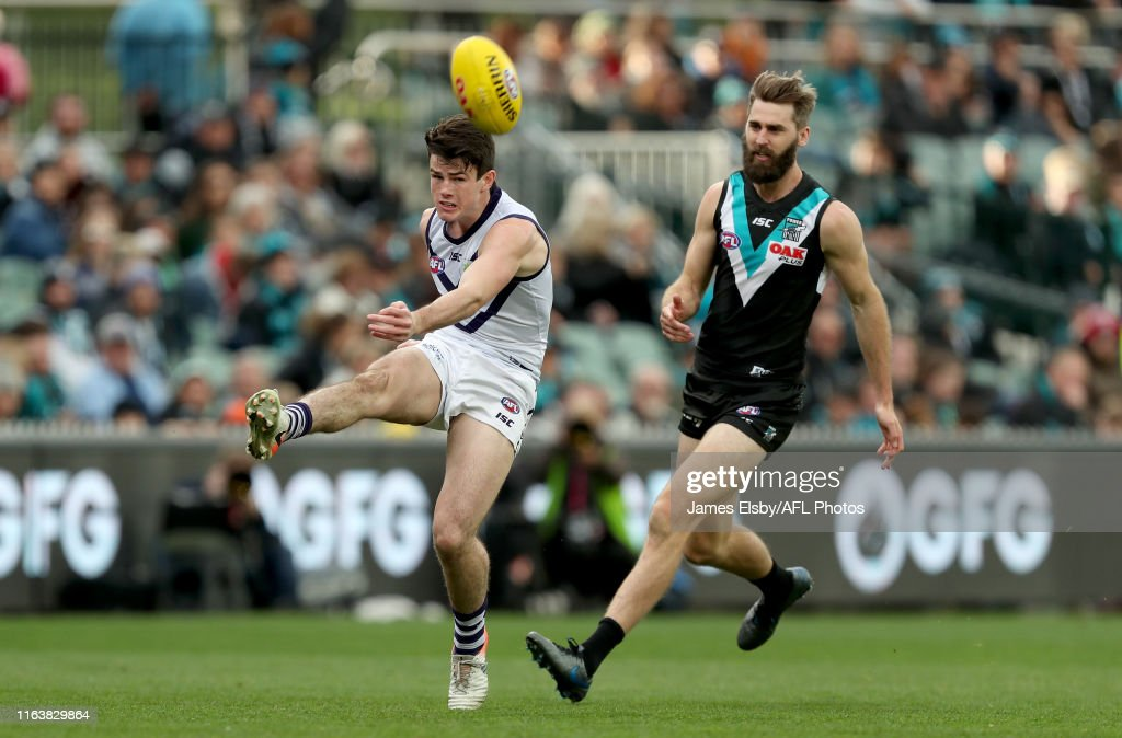 AFL Rd 23 - Port Adelaide v Fremantle : News Photo
