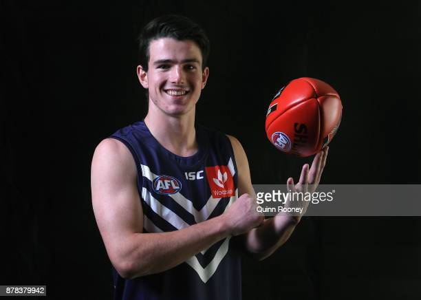Andrew Brayshaw of the Dockers poses during the 2017 AFL Draft at Sydney Showgrounds on November 24 2017 in Sydney Australia