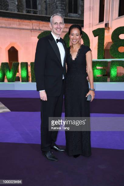 Andrew Bretherton and Anne Keothavong attend the Wimbledon Champions Dinner at The Guildhall on July 15 2018 in London England