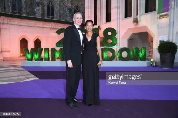 Andrew Bretherton and Anne Keothavong attend the Wimbledon Champions Dinner at The Guildhall on July 15, 2018 in London, England.
