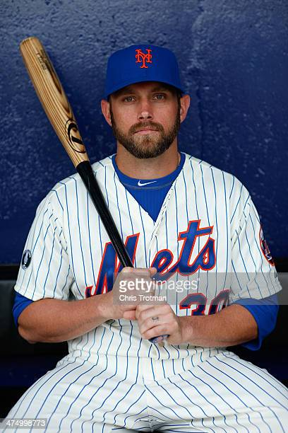 Andrew Brown of the New York Mets poses for a portrait during Spring Training photo day at Tradition Field on February 26 2014 in Port St Lucie...
