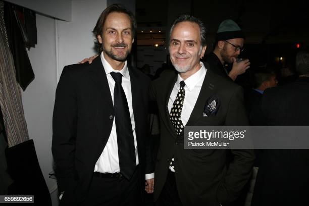 Andrew Brunger and Jorge Socarras attend 7th Annual BoCONCEPT/KOLDESIGN Holiday Party at Bo Concept Madison Ave on December 15 2009 in New York
