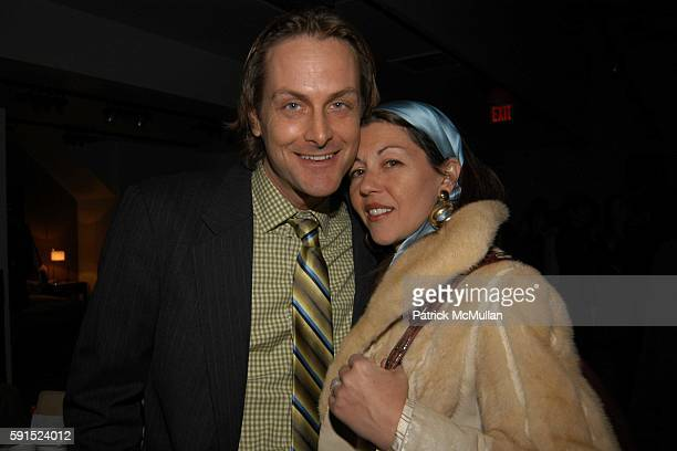 Andrew Brunger and Sally Randall Brunger attend Bo Concept/ Kol Design Holiday Cocktail Party at Bo Concept Store on December 14 2005 in New York City