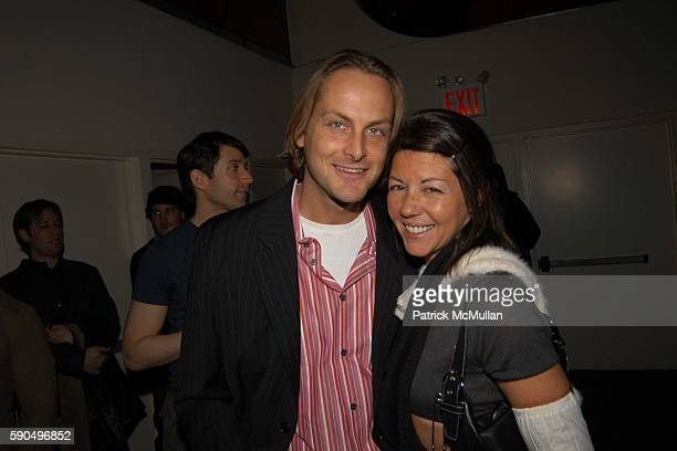 Andrew Brunger and Sally Randall Brunger attend GLO Party at GLO on January 26 2005 in New York City