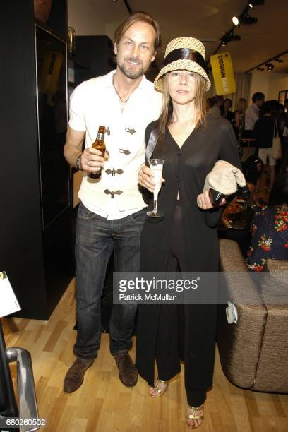 Andrew Brunger and Sally RandallBrunger attend PATRICK MCMULLAN COMPANY GROUP SHOW with Cocktails Provided by SOLERNO Blood Orange Liqueur at Bo...