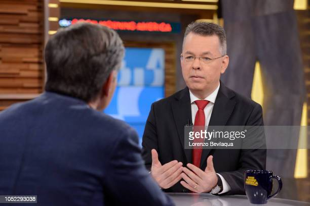 AMERICA Andrew Brunson is a guest on 'Good Morning America' on Tuesday October 16 2018 on ABC GEORGE