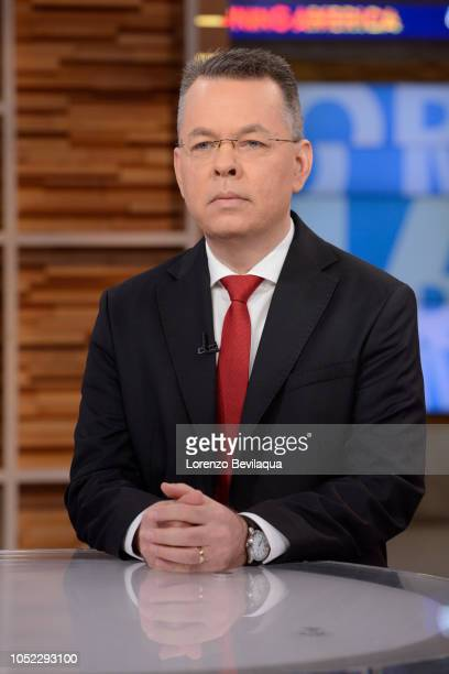 AMERICA Andrew Brunson is a guest on 'Good Morning America' on Tuesday October 16 2018 on ABC ANDREW