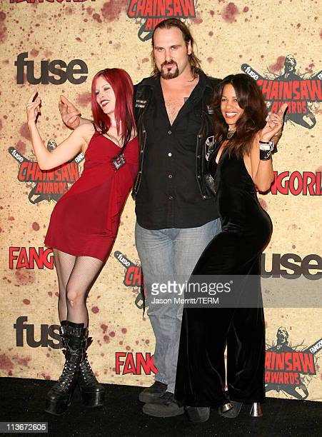 Andrew Bryniarski and guests during Fuse Fangoria Chainsaw Awards Press Room at Orpheum Theatre in Los Angeles California United States