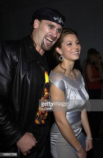 Andrew Bryniarski and Jessica Biel during 'The Texas Chainsaw Masssacre' World Premiere After Party in Hollywood California United States
