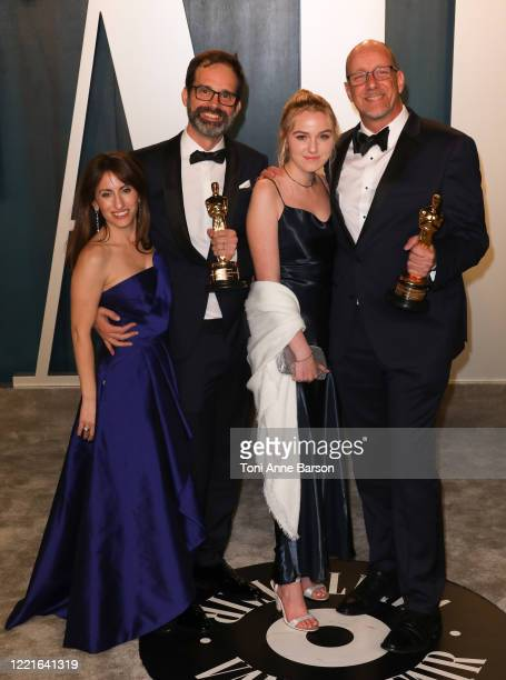Andrew Buckland and Michael McCusker and guests attend the 2020 Vanity Fair Oscar Party at Wallis Annenberg Center for the Performing Arts on...