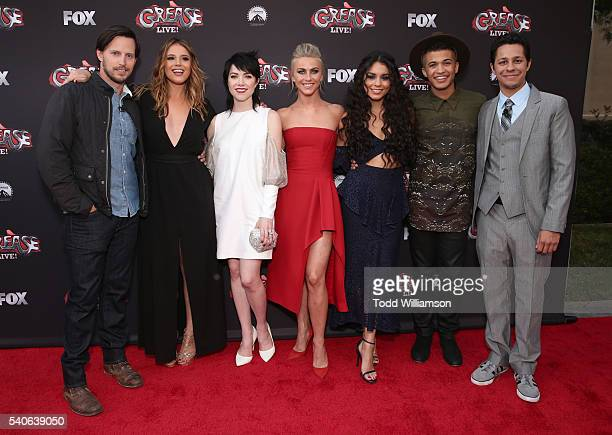 Andrew Call Kether Donohue Carly Rae Jepsen Julianne Hough Vanessa Hudgens Jordan Fisher and David Del Rio attend FOX's Grease Live For Your...
